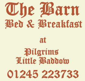 Pilgrims Barn Bed and Breakfast in Little Baddow, near Chelmsford